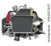 vector car parts with mats... | Shutterstock .eps vector #1962327637
