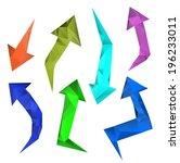 modern arrows. design template ... | Shutterstock . vector #196233011