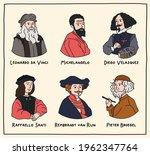 vector illustration. set of... | Shutterstock .eps vector #1962347764