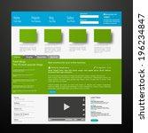 web design elements  buttons ...   Shutterstock .eps vector #196234847
