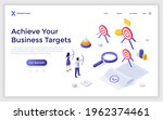 landing page template with man... | Shutterstock .eps vector #1962374461