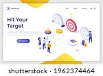 landing page template with... | Shutterstock .eps vector #1962374464