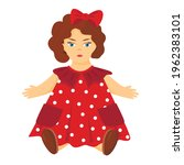 Drawing Of A Doll In A Red...