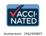 vaccinated logo design. i am... | Shutterstock .eps vector #1962400807