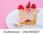 Slice Of Cake With Strawberries ...