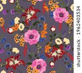 trendy floral pattern in the... | Shutterstock .eps vector #1962403534