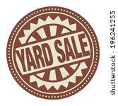 Abstract stamp or label with the text Yard Sale written inside, vector illustration