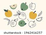 set of drawn apples  vector... | Shutterstock .eps vector #1962416257