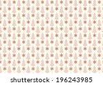 orange vintage blossom and...   Shutterstock .eps vector #196243985