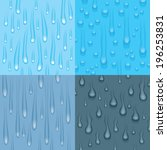 set of four different drip and... | Shutterstock .eps vector #196253831
