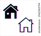 home glitch icon  house ...   Shutterstock .eps vector #1962563794