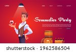 sommelier party website with... | Shutterstock .eps vector #1962586504