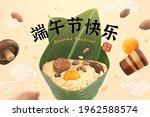 3d unwrapped rice dumpling....   Shutterstock .eps vector #1962588574