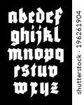 gothic alphabet font. vector   Shutterstock .eps vector #196261904