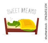 crocodile cartoon character.... | Shutterstock .eps vector #1962651154