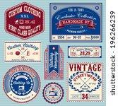 vector set of vintage labels... | Shutterstock .eps vector #196266239
