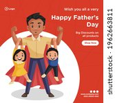 banner design of happy father's ... | Shutterstock .eps vector #1962663811