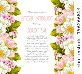 set of invitations with floral... | Shutterstock . vector #196266854