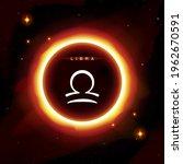 libra zodiac symbol in modern ... | Shutterstock .eps vector #1962670591