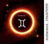 gemini zodiac symbol in modern  ... | Shutterstock .eps vector #1962670594