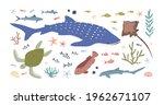 set of sea and ocean habitats....   Shutterstock .eps vector #1962671107