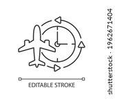 jet lag linear icon. sleep...   Shutterstock .eps vector #1962671404