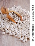 small white beans  sprinkled... | Shutterstock . vector #196267565