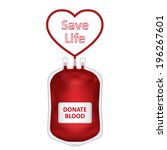 donate blood concept with blood ...   Shutterstock . vector #196267601