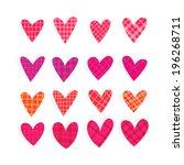 heart icon set  love vector | Shutterstock .eps vector #196268711