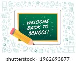 welcome back to school greeting ...   Shutterstock .eps vector #1962693877