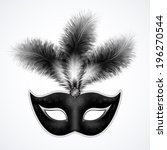 black carnival mask with... | Shutterstock .eps vector #196270544
