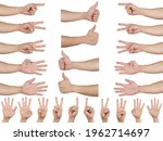 Group Set Man Hand Counting And ...