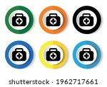 first aid vector icons  set of... | Shutterstock .eps vector #1962717661