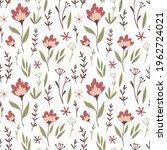 seamless floral vector pattern. ...   Shutterstock .eps vector #1962724021