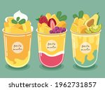 mango smoothie the pulp of... | Shutterstock .eps vector #1962731857