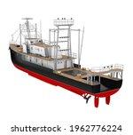 Passenger Ship Isolated. 3d...