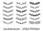 black silhouette semicircular... | Shutterstock .eps vector #1962790564