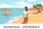 summer beach  sandy coastline ...   Shutterstock .eps vector #1962836614
