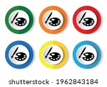 paint brush with palette icon.... | Shutterstock .eps vector #1962843184