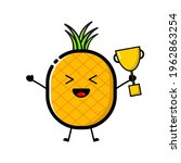 a pineapple character wearing...   Shutterstock .eps vector #1962863254