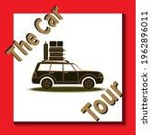 world trip around. car is...   Shutterstock .eps vector #1962896011