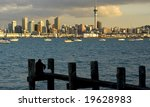 Auckland city and harbour - stock photo