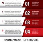 modern infographics options... | Shutterstock .eps vector #196289981