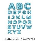 alphabet sea pattern | Shutterstock .eps vector #196292201