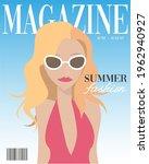 summer fashion beauty magazine... | Shutterstock .eps vector #1962940927