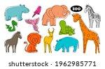 set of vector animals in the... | Shutterstock .eps vector #1962985771