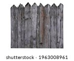 Old Wooden Fence Isolated On...
