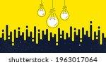 idea light bulbs silhouette.... | Shutterstock .eps vector #1963017064