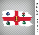 flag of montreal brush strokes. ...