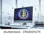creative bitcoin concept on...